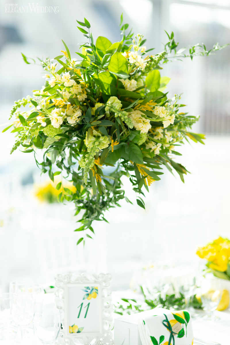 Greenery Bridal Shower Centrepieces