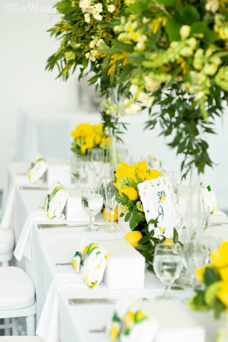 Lemon Wedding Table Setting