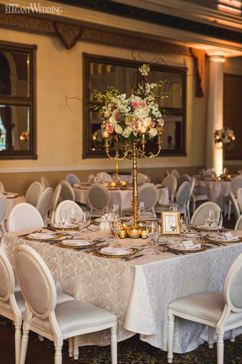 Gold Wedding Centrepieces