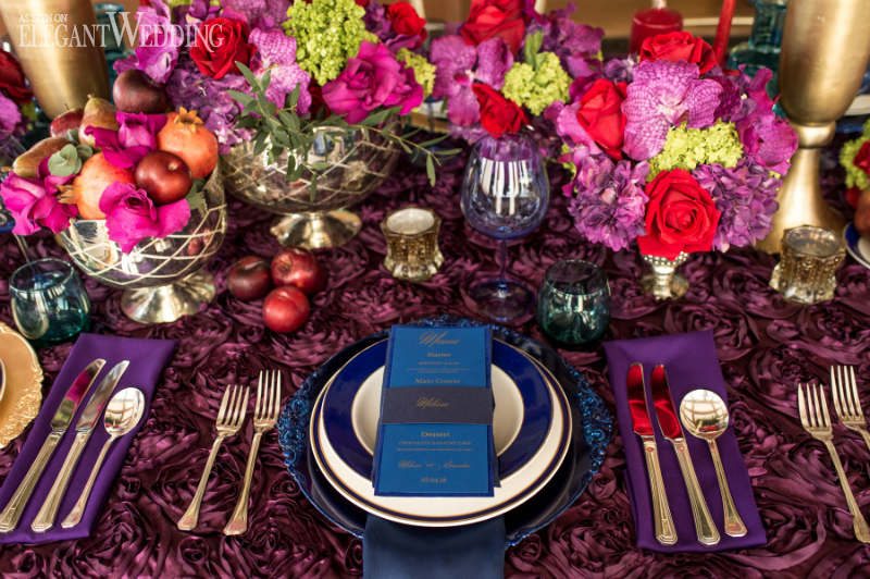 Regal Wedding Table Setting