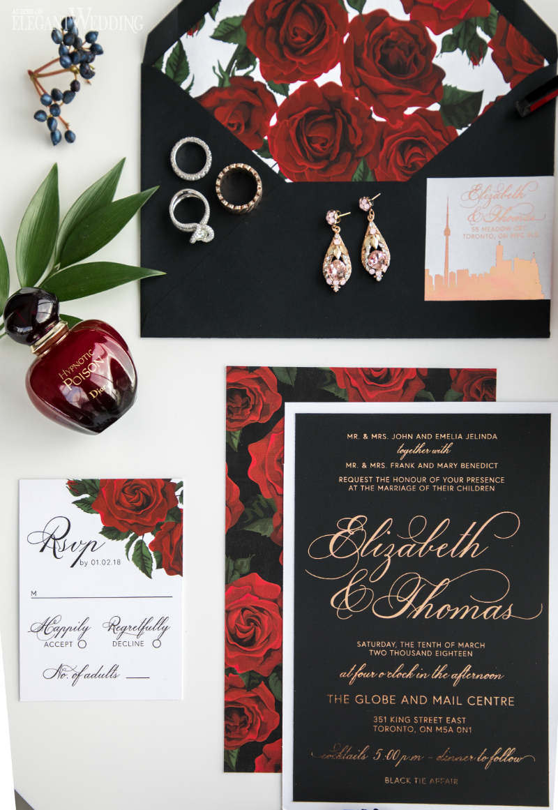 Red Rose Wedding Invitations