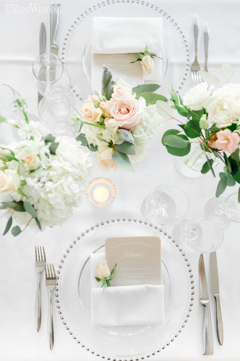 Blush Wedding Table Top
