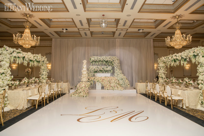 White and Gold Luxury Wedding