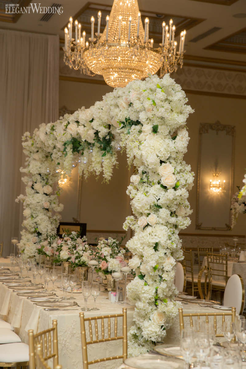 Head Table Floral Arch