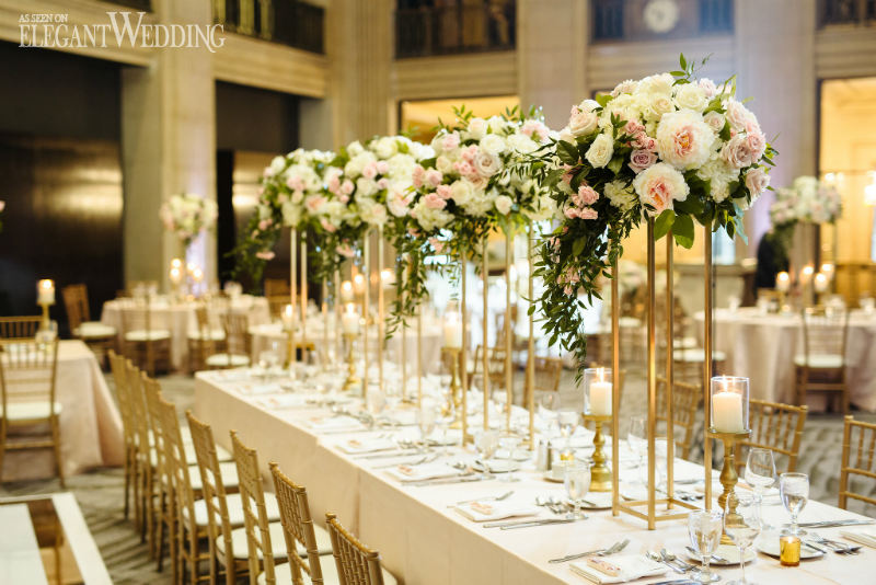 A Classic Blush Gold Wedding Theme Elegantwedding Ca