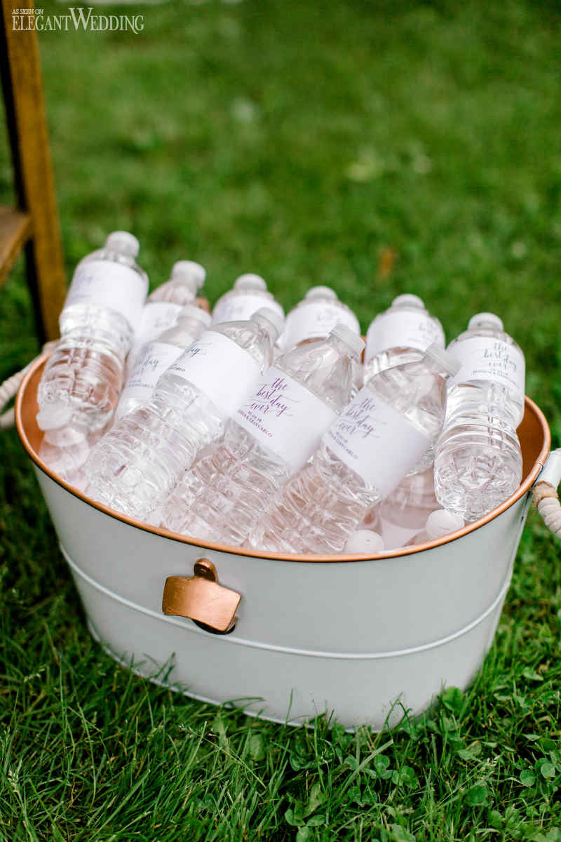 Personalized Wedding Water Bottles