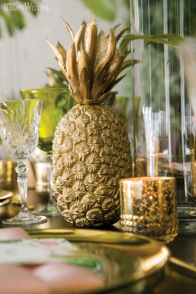 Pineapple Wedding Centrepieces