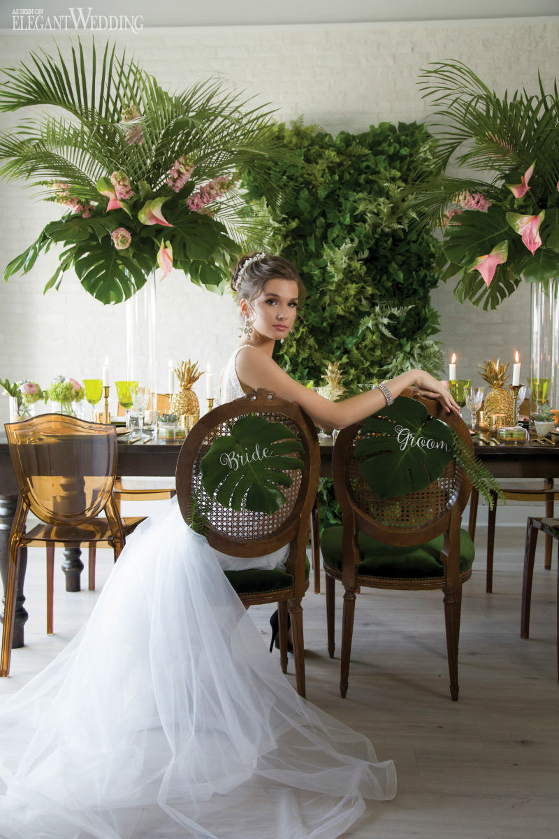 A Chic Tropical Wedding with Pineapples & Palms