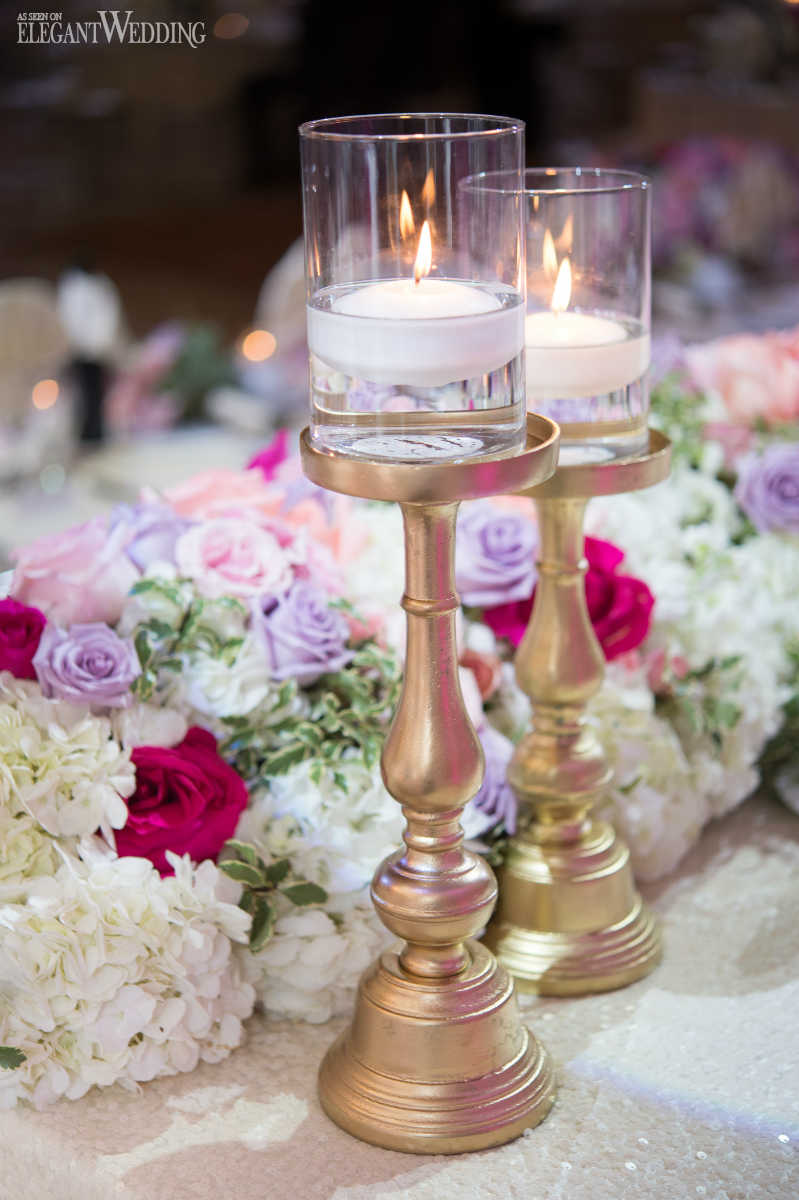 Gold Candlestick Wedding Decor