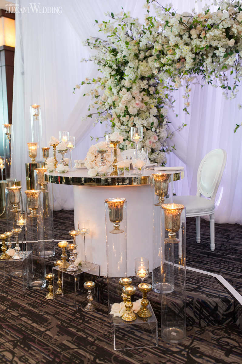 Clear Wedding Table Decor