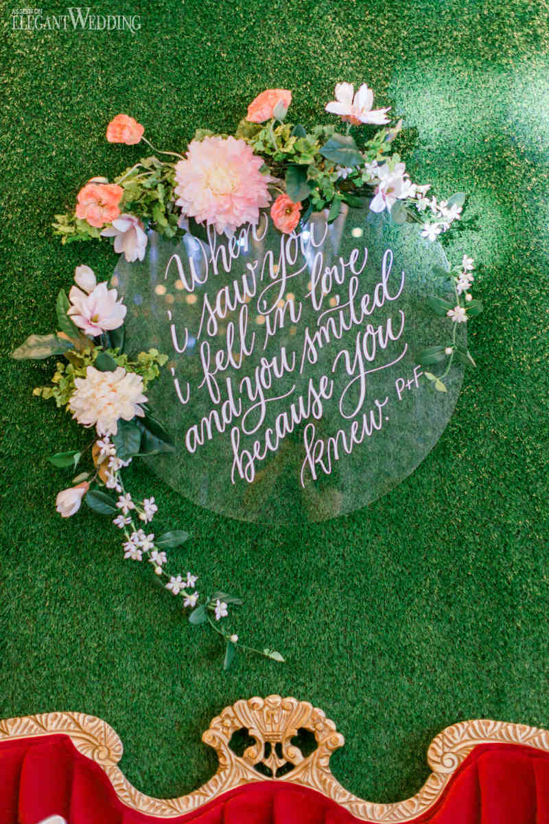 Calligraphy Wedding Signage