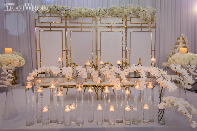 White and Gold Wedding Table Setting