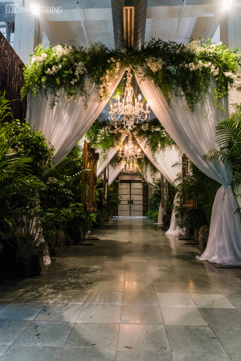 Greenery Wedding Entrance Decor