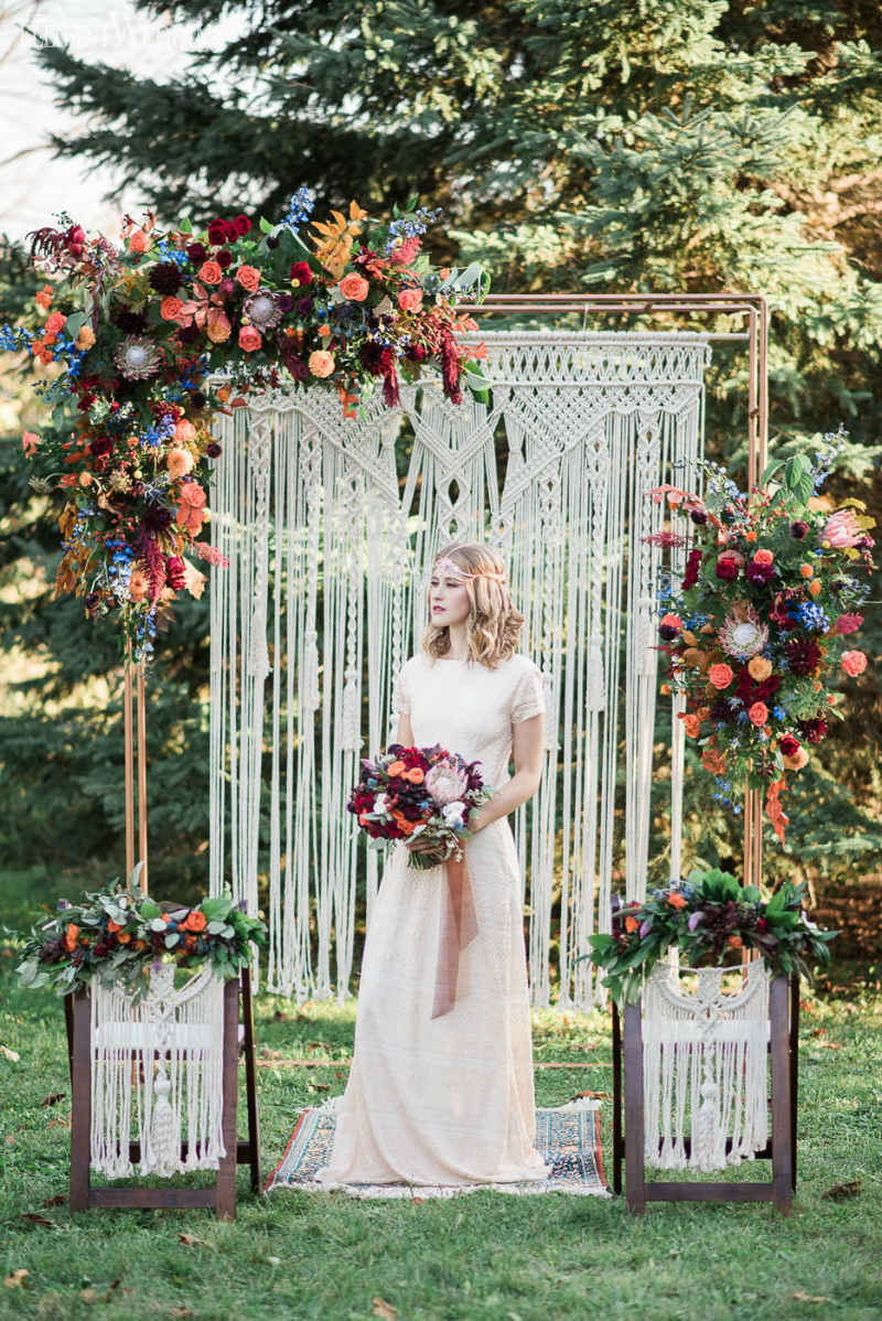 Vibrant Bohemian Wedding Inspo for Fall