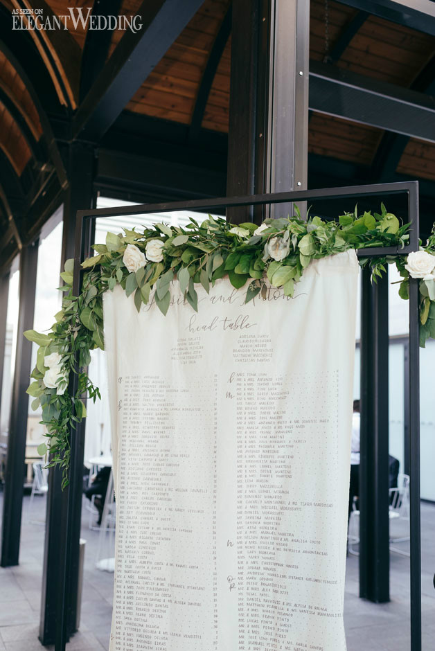 Greenery Garland Seating Chart