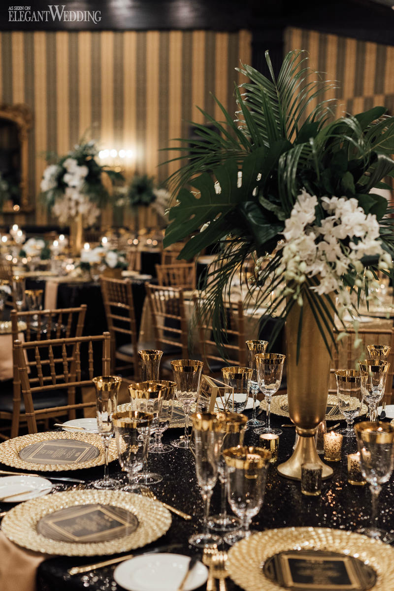 Great Gatsby Wedding Table Setting