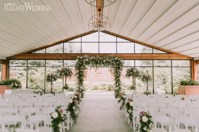 Elegant Garden Wedding with Shades of Purple