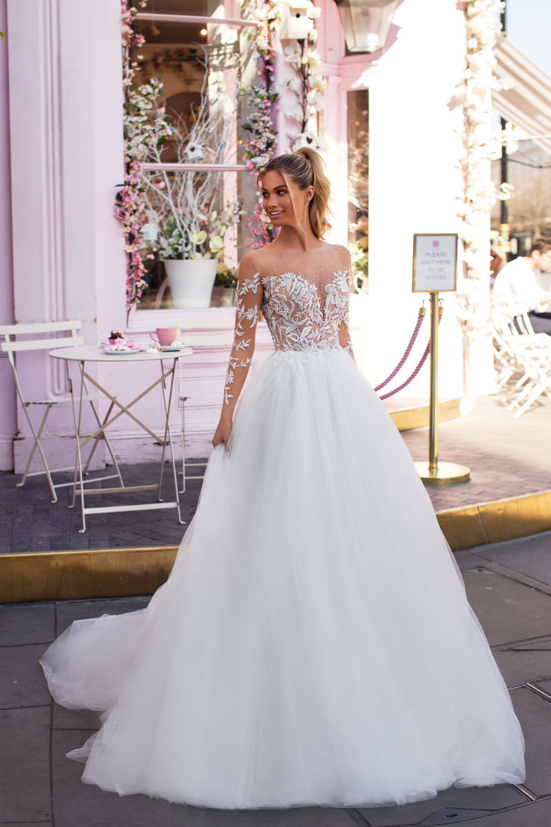 Off the Shoulder Tulle Ballgown