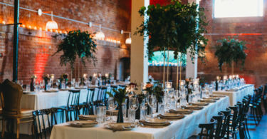 An Urban Wedding with Tall Greenery