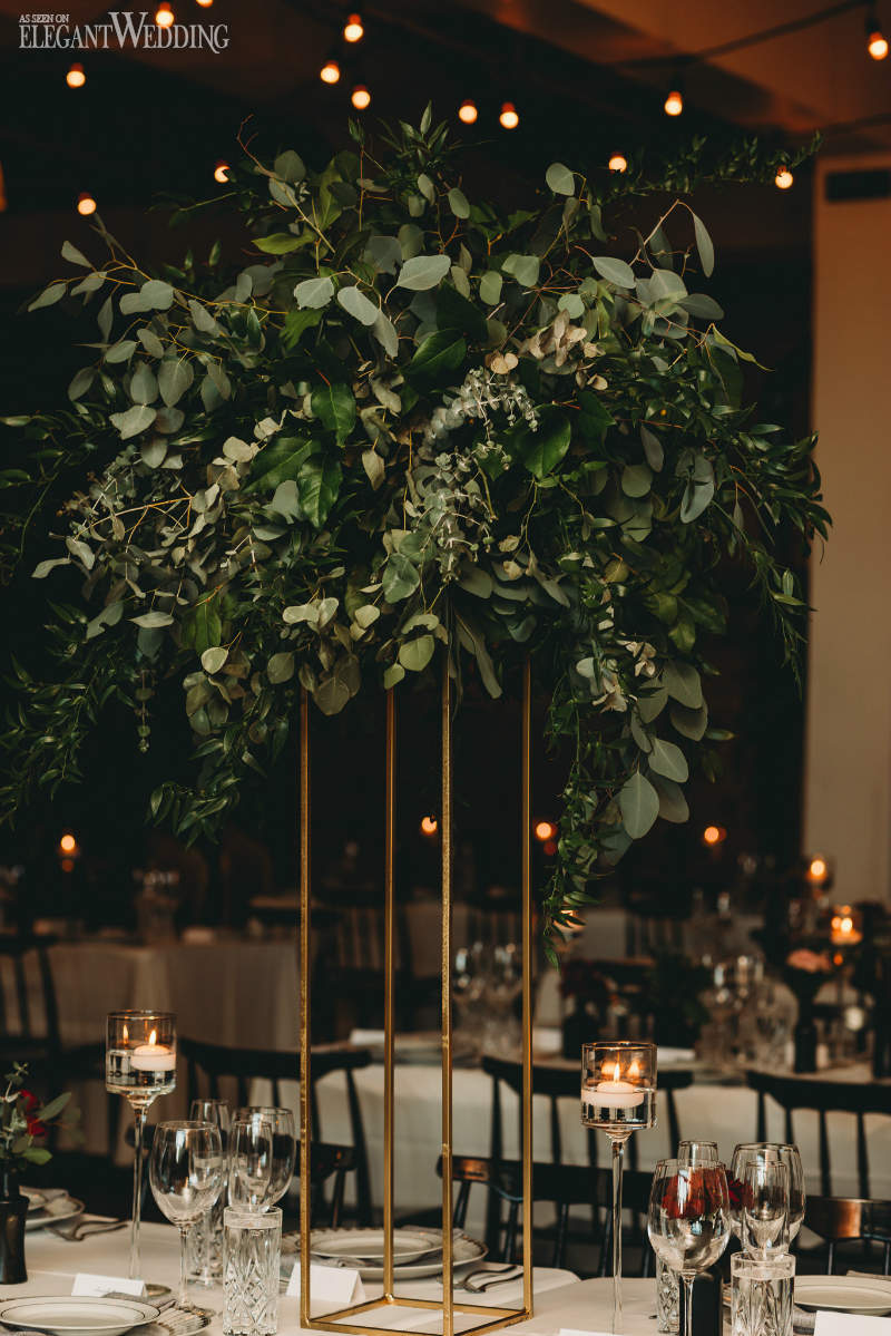 Tall Greenery Wedding Centrepieces