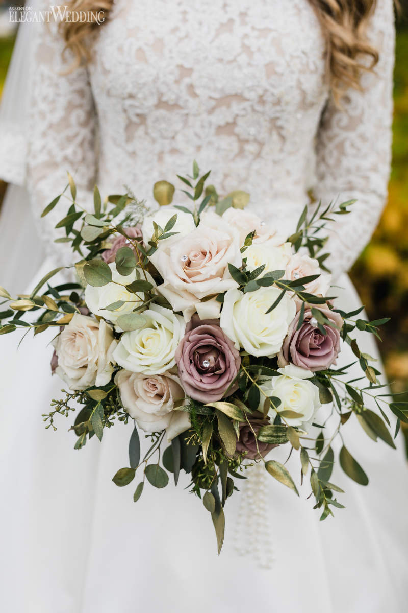 Mauve Wedding Bouquet
