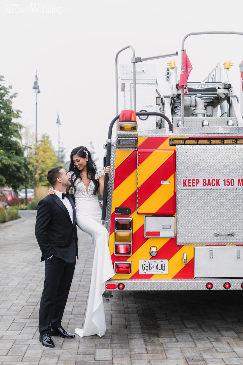 Fire Truck Wedding Photos