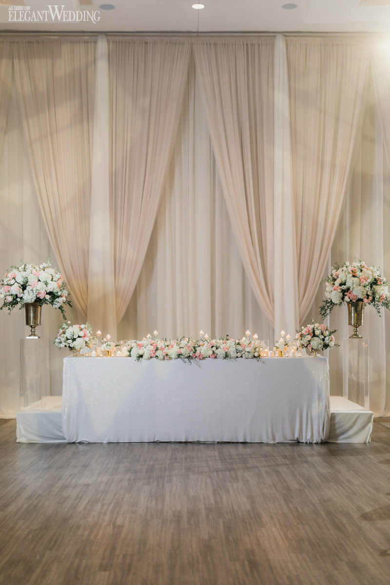 Blush and Gold Wedding Head Table