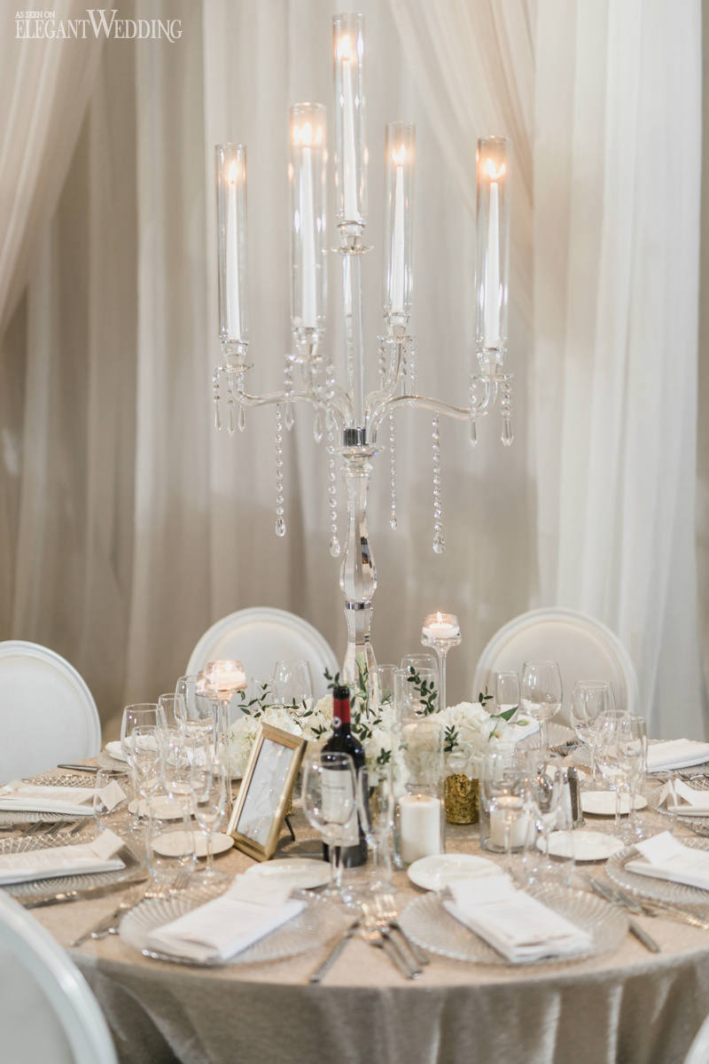 Crystal Candelabra Wedding Centrepieces