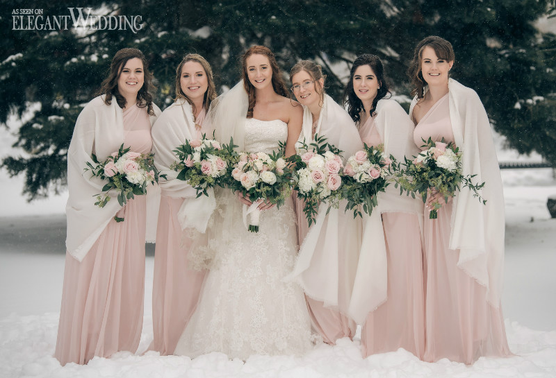 Winter Bridesmaids Shawls