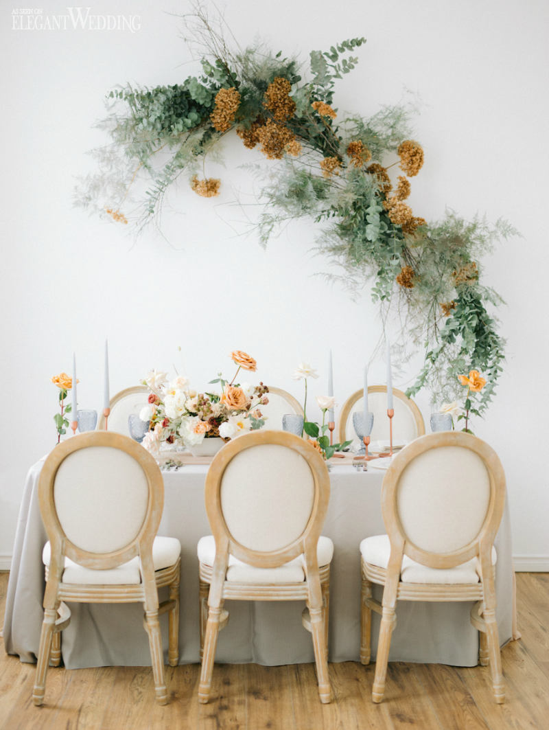 Organic Wedding Table Setting Ideas