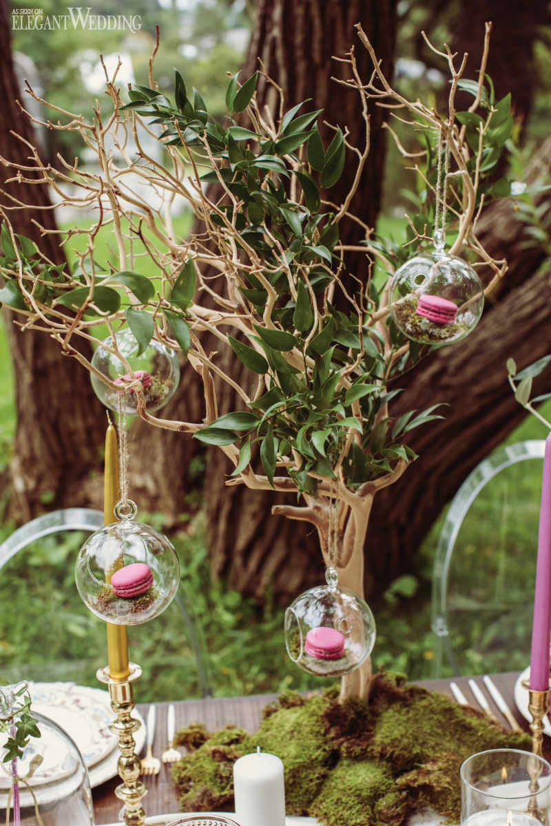 Branch Wedding Centrepieces with Glass Bulbs