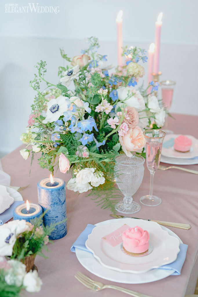 Rose Quartz and Serenity Wedding Table