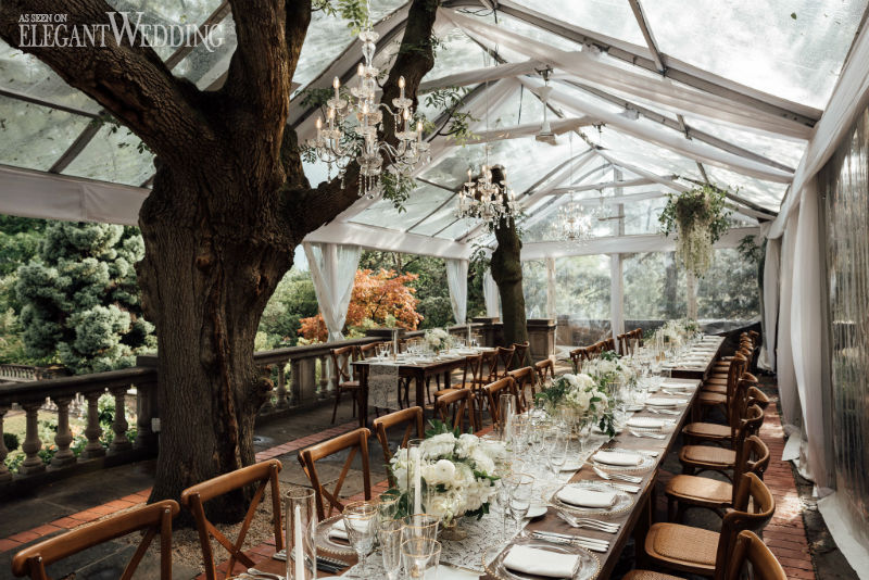 Tented Greenery Wedding Reception