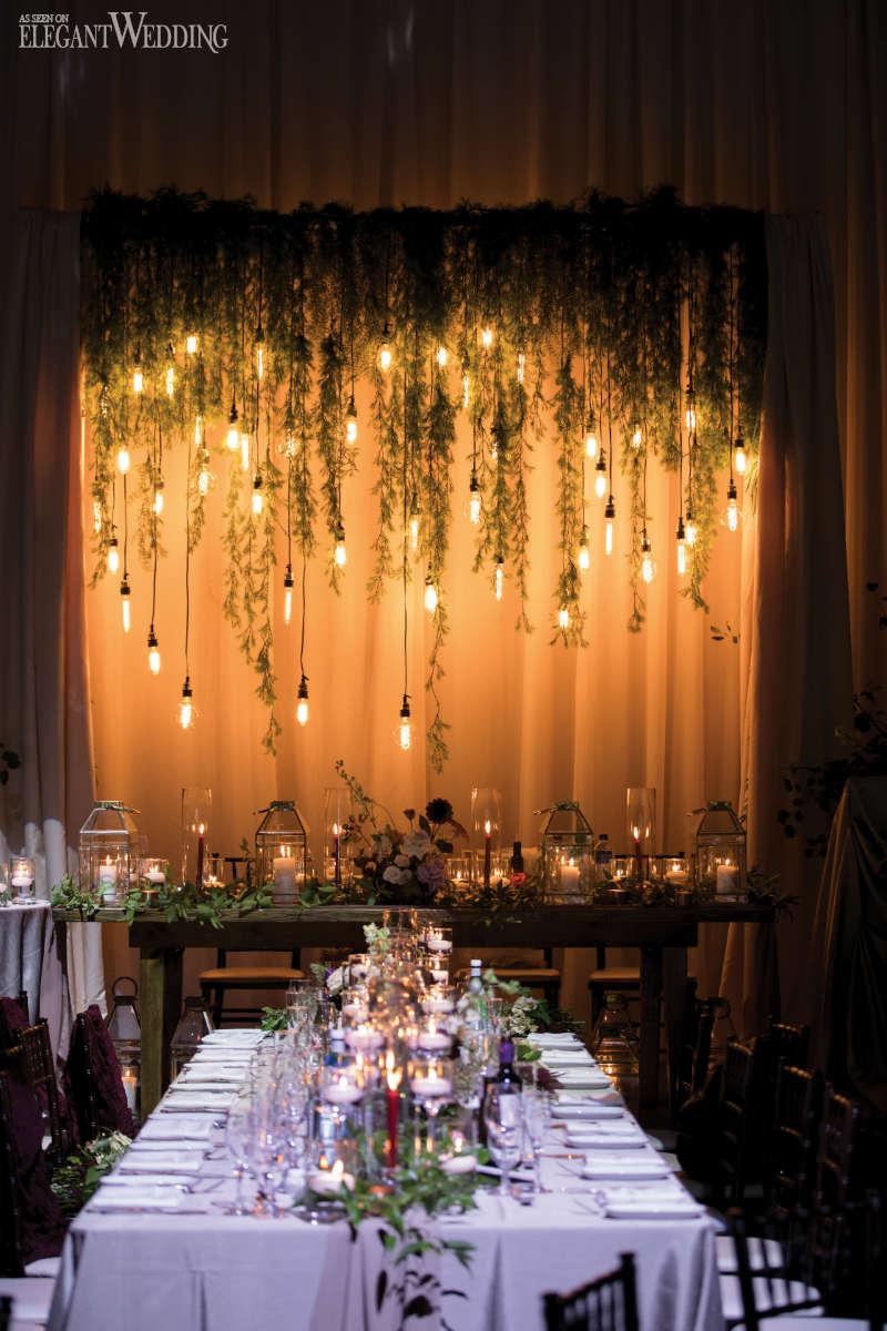 Industrial Wedding Table Setting Ideas