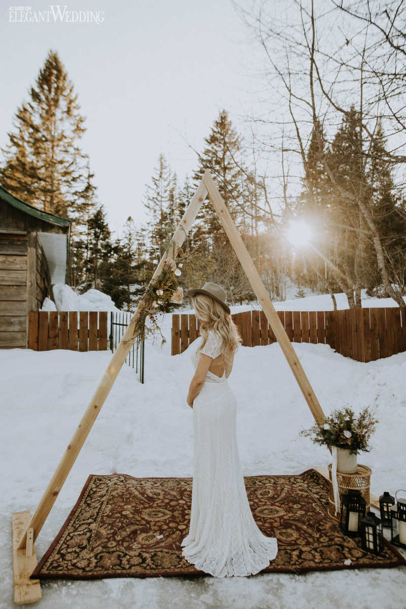 Boho Triangle Wedding Arch