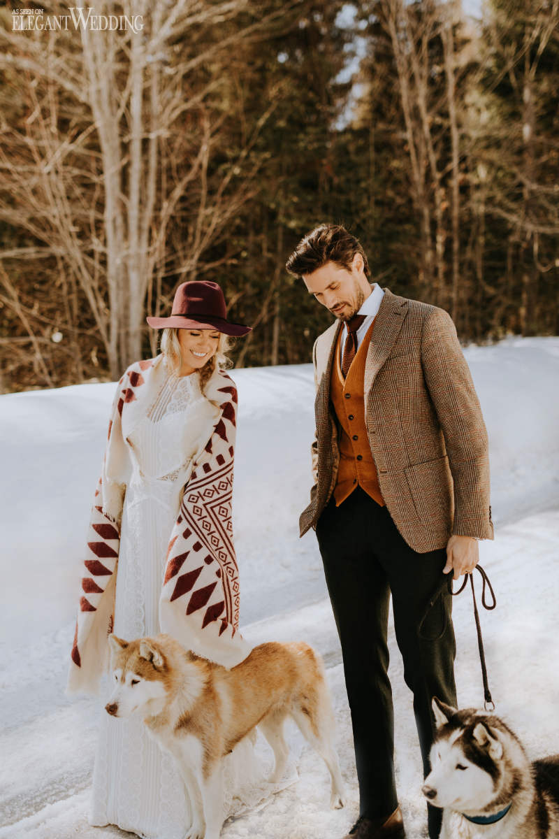 Winter Wedding Dog Inspiration