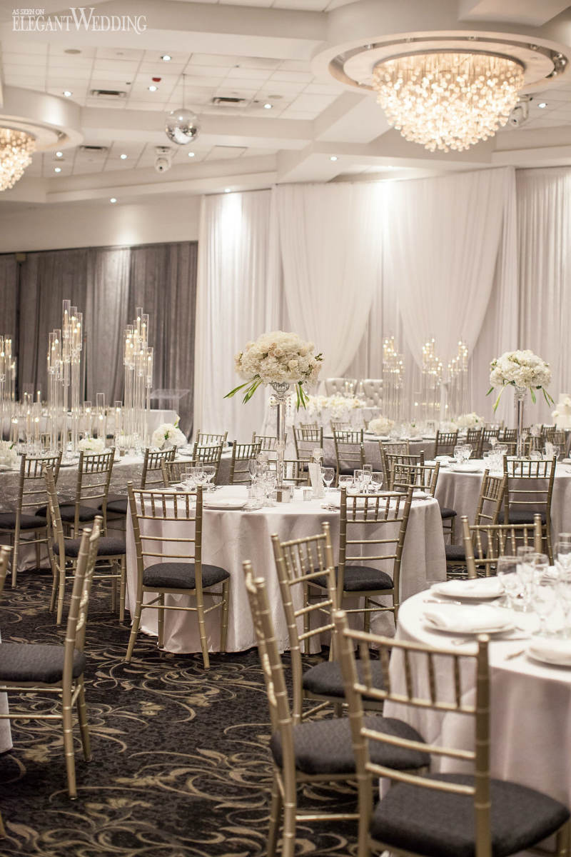 All-White Wedding Decorations