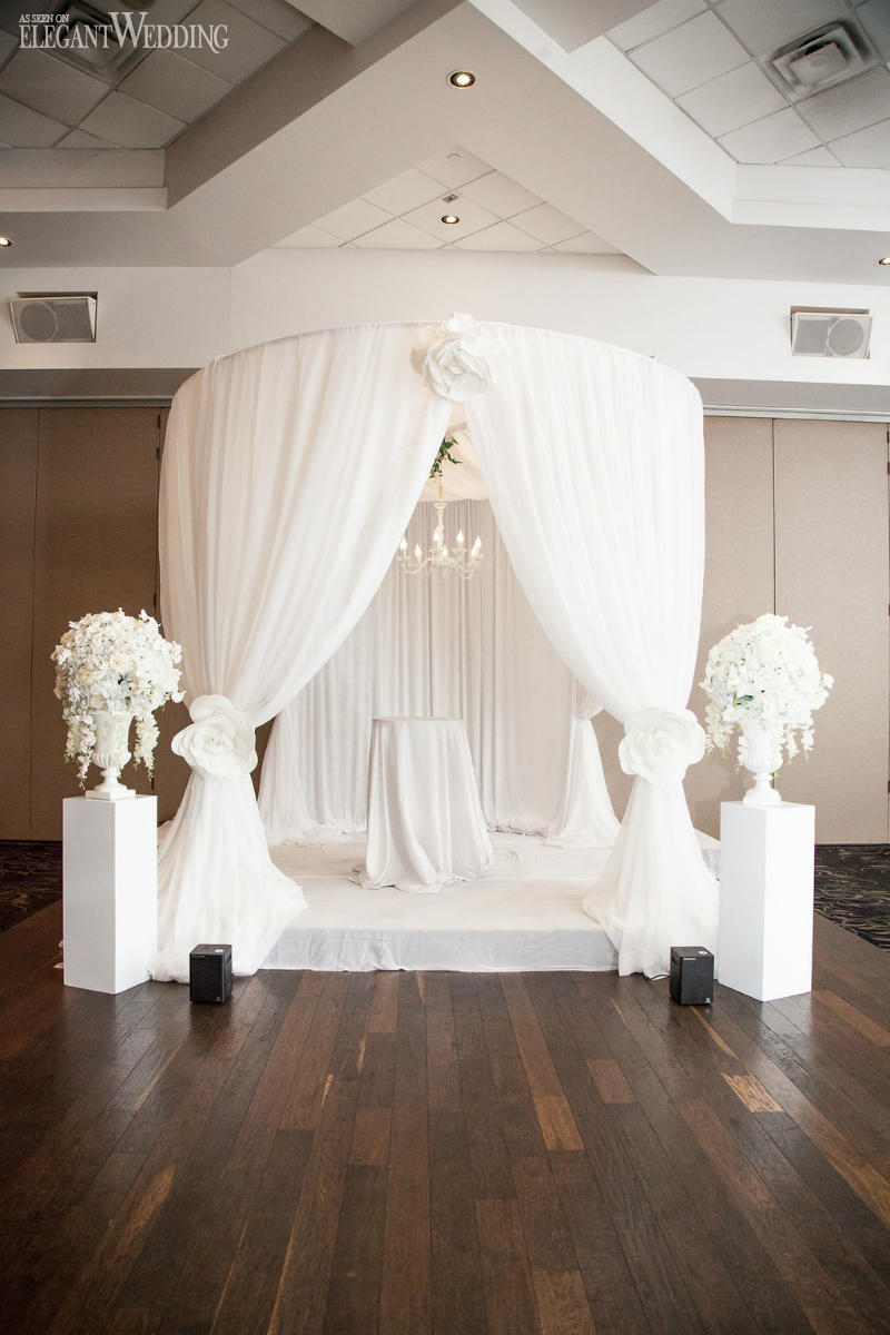 White Draped Wedding Chuppah