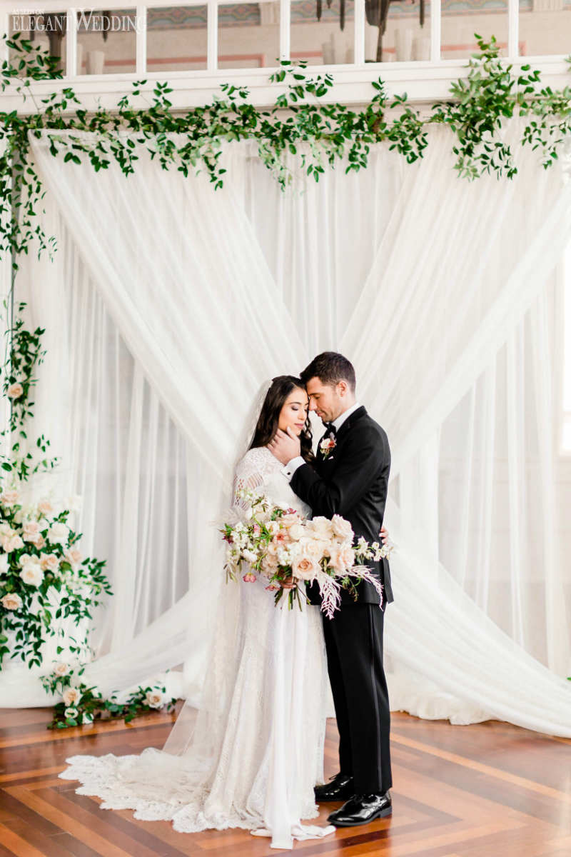 Neutral Wedding Palette with Greenery