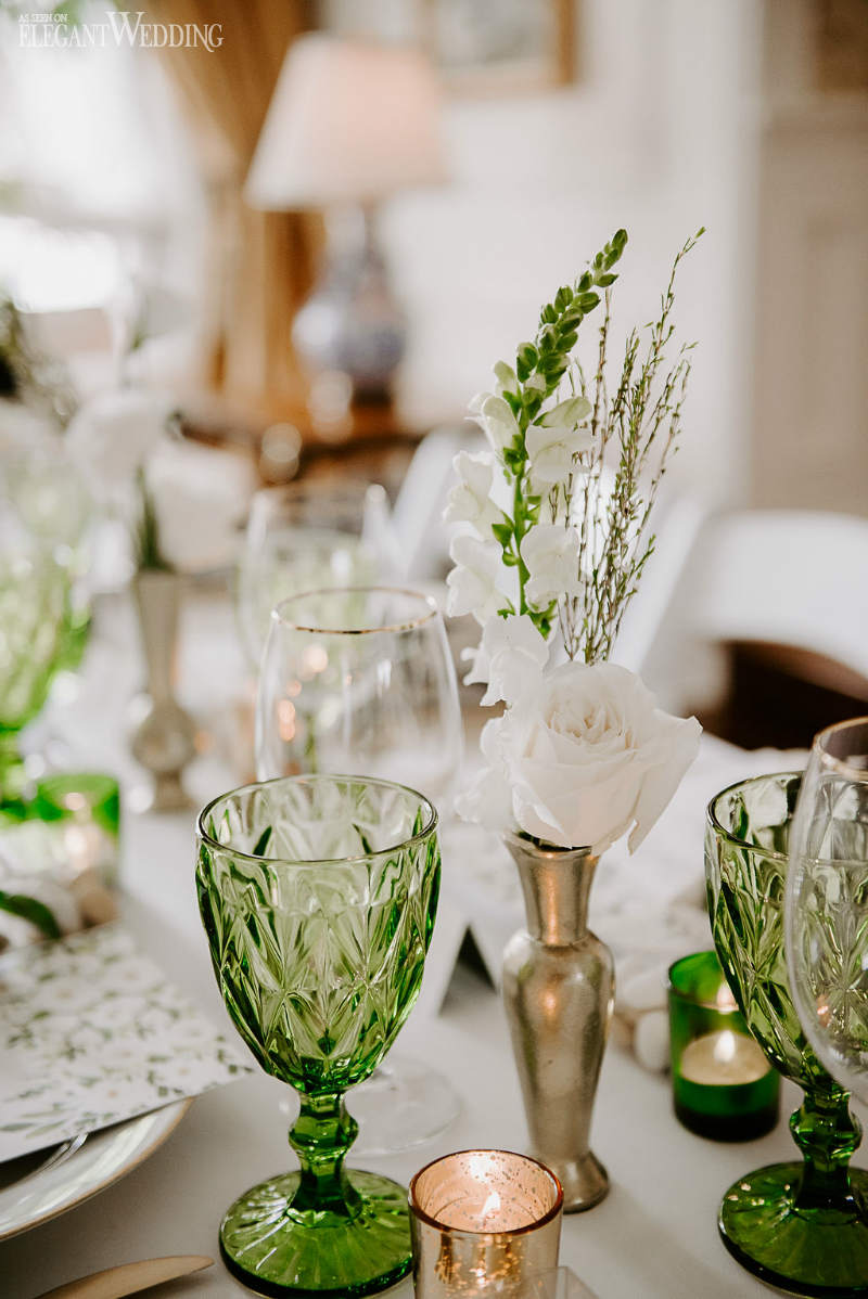 Green and White Bridal Shower