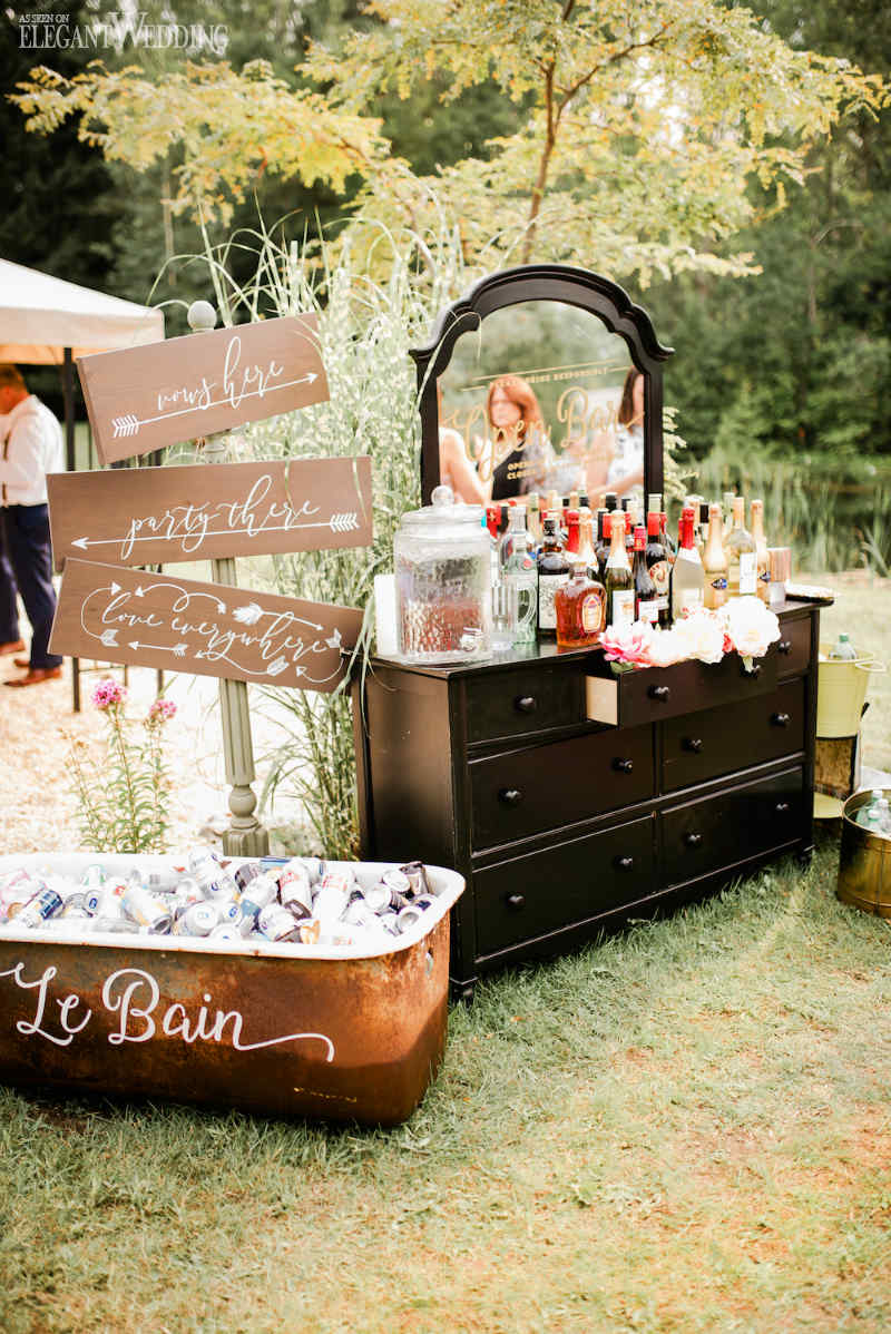 Beer Bath Wedding Decorations