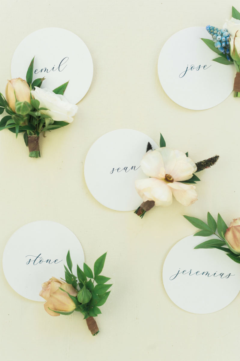 Boutonniere Name Tags