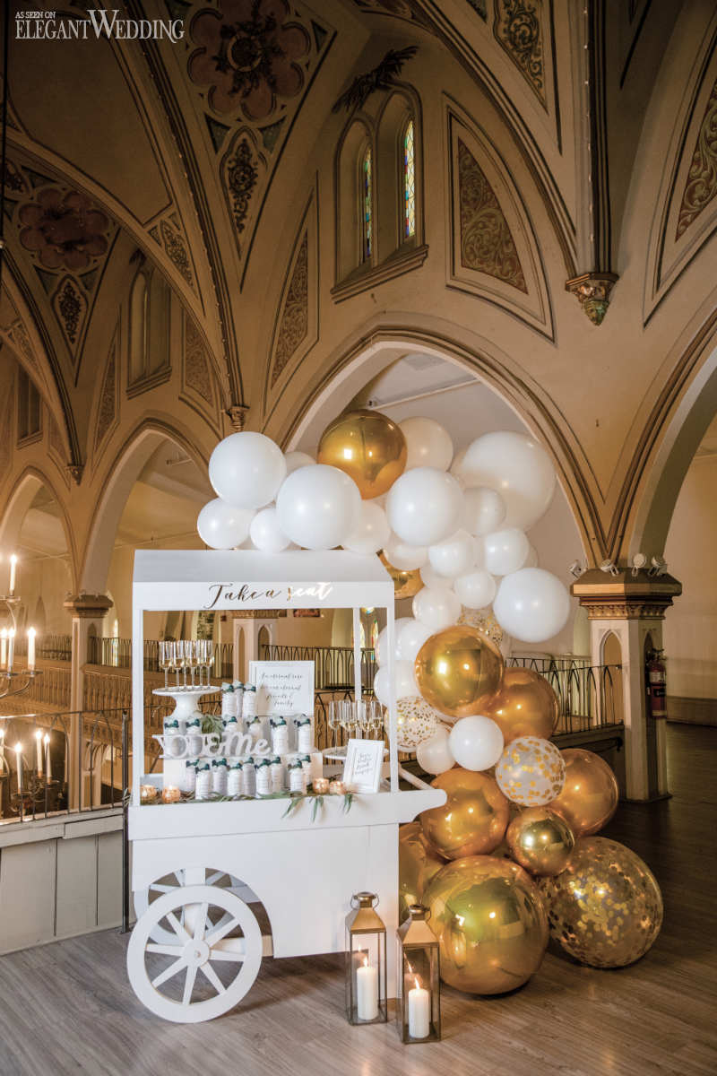 Balloon Wedding Sweet Cart
