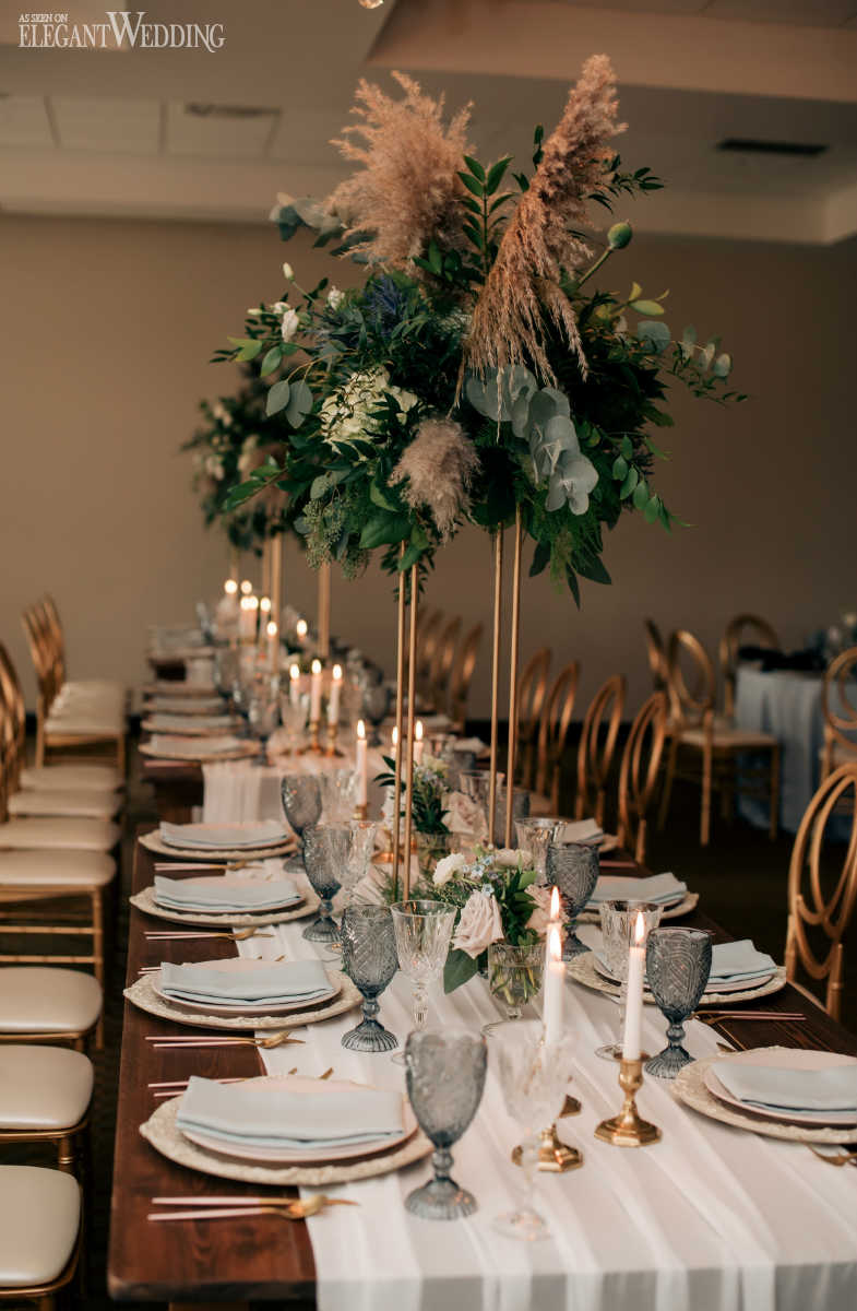 Pampas Grass Table Settings