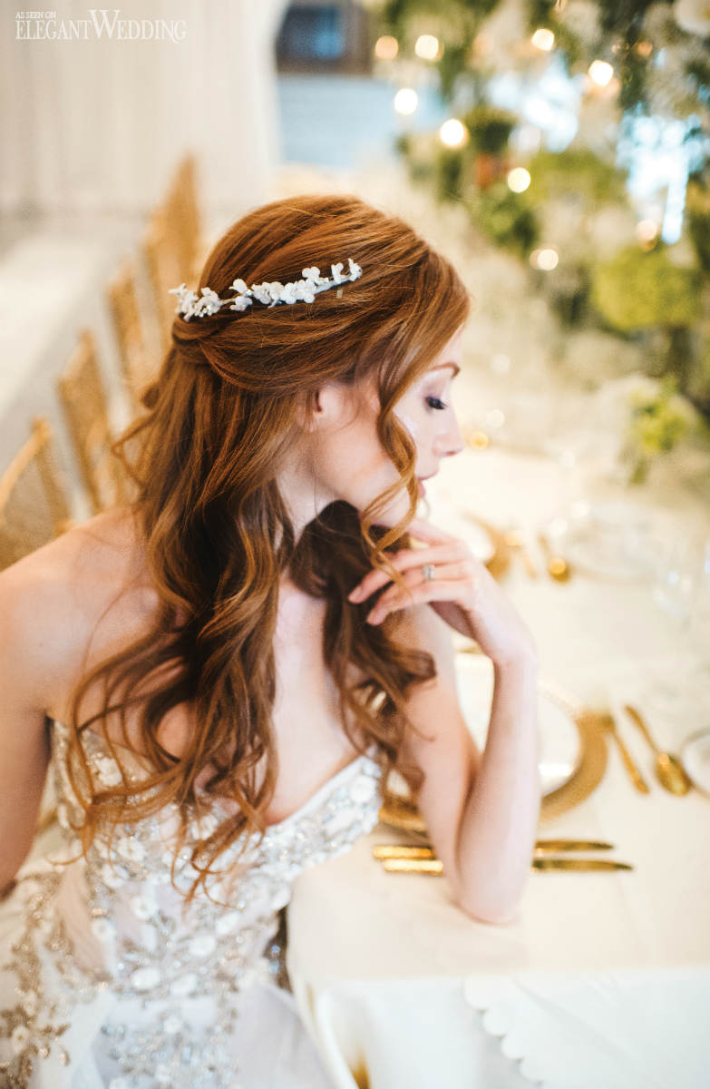 Down Bridal Hair Headpieces
