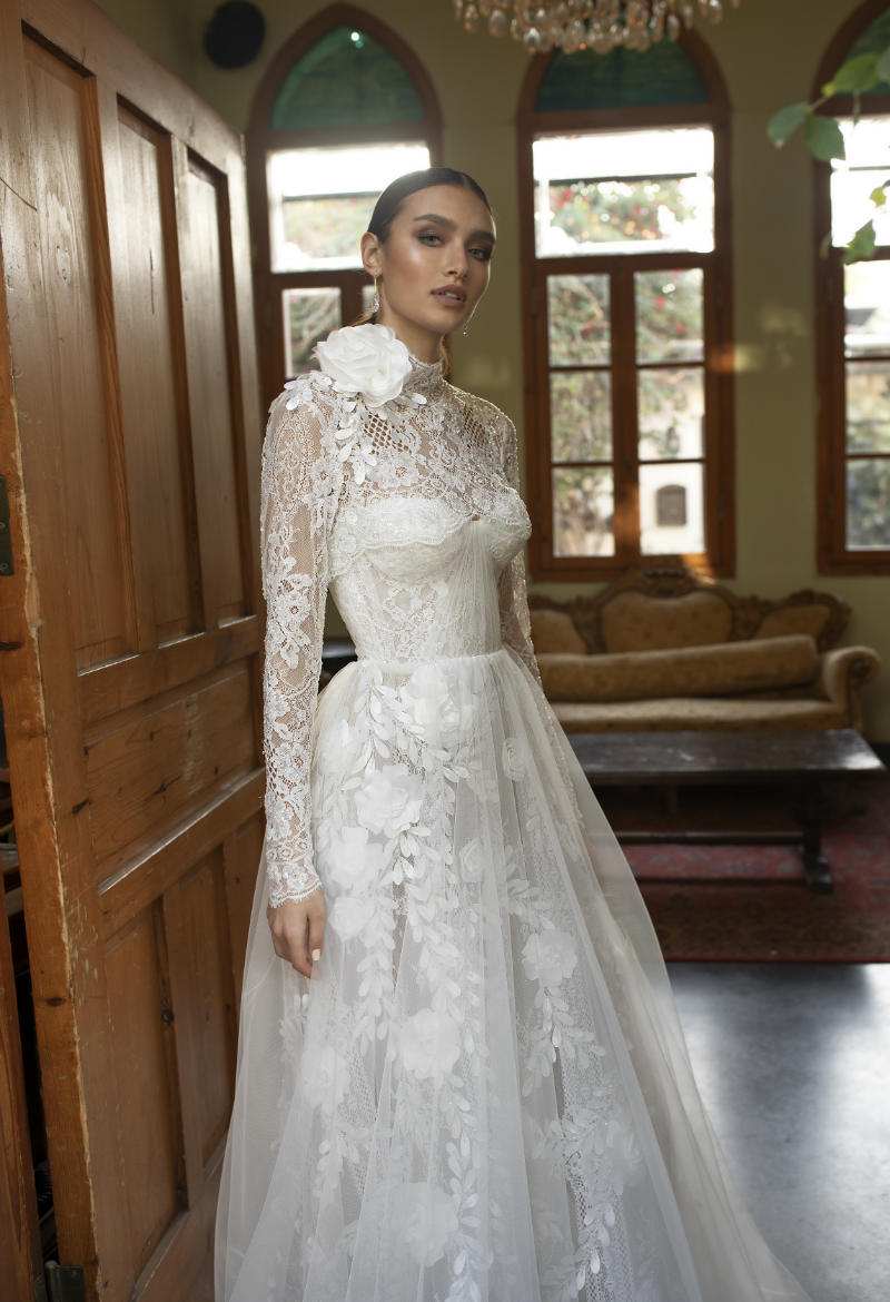 Haute Couture Long Sleeve Wedding Dress