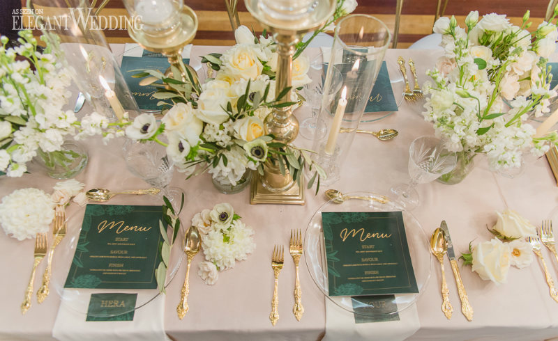 Emerald Wedding Table Decor