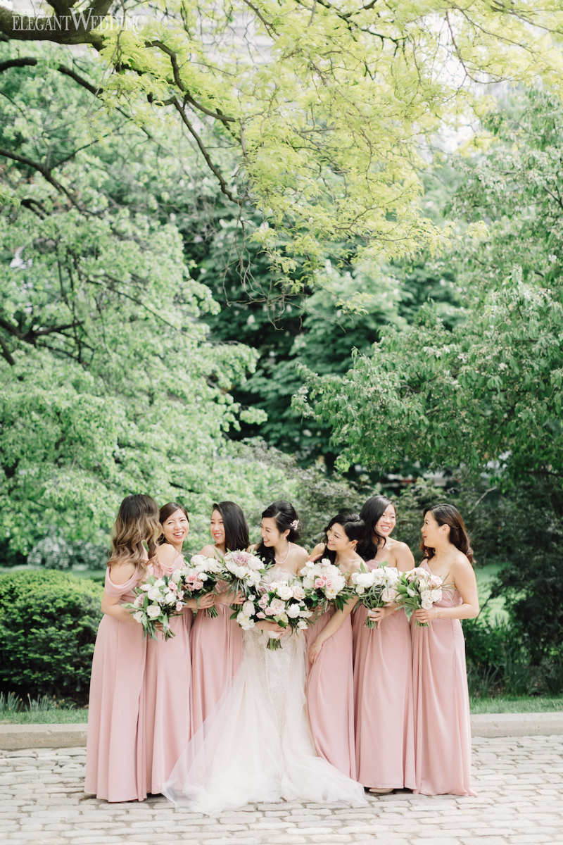 Dusty Rose Bridesmaids Dresses