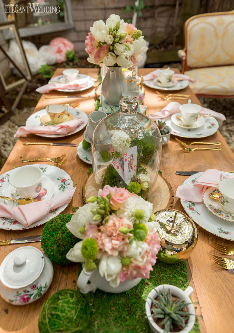 Moss Wedding Centrepiece Ideas
