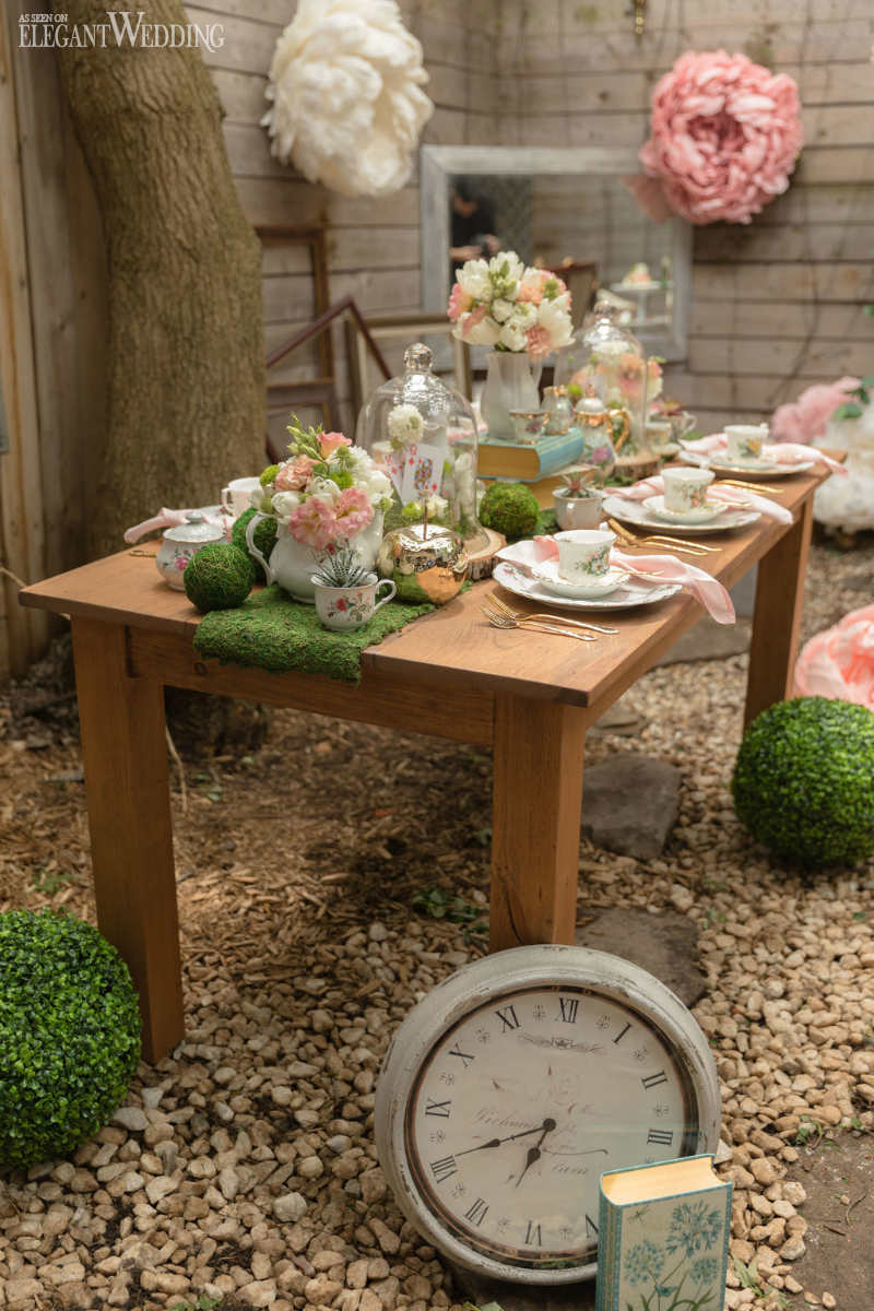 Alice in Wonderland Wedding Table Setting